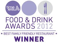 Award | best family friendly restaurant | 2012 award | italian restaurant | tadworth