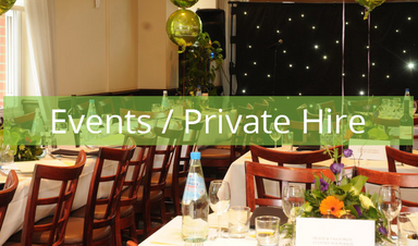Events, private Hire